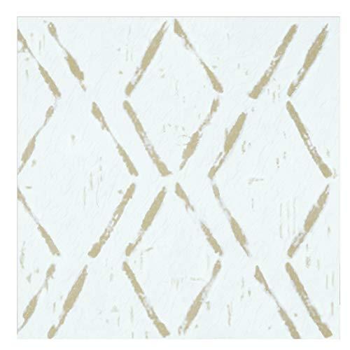 Achim Home Furnishings Retro 12x12 Self Adhesive Vinyl Floor Tile - Tan Diamond - 20 Tiles/20 sq. ft. (RTFTV60820)