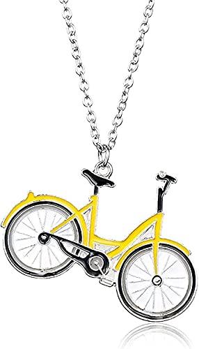 Yiffshunl Collar Joyería de Moda Collar Collares con Colgante de Bicicleta Collar de Ciclismo para Mujeres Hombres ESTANTES Cuerpo BIEF Cuello DE Negocios Deportes Ciclismo Regalo
