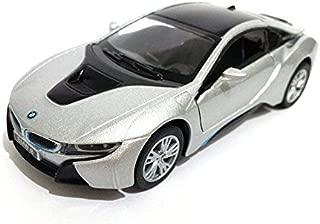 Kinsmart New 1:36 Display - Silver Color BMW I8 Diecast Model Car