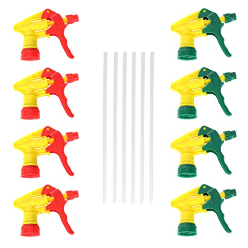 Angoily 12 Piezas Gatillo Rociador Botella de Spray Reemplazo Superior Botella de Plástico Rociador Boquilla Rociador Cabezas Rociador para Jardinería Peluquería Color Aleatorio