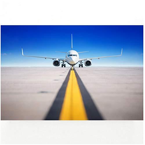 Muurfoto Vliegtuig Passagiersvliegtuig Voertuig Posters en Prints Canvas Art Inlijsten Schilderijen voor Kamer Decor Print op Canvas -60x100cm Geen Frame