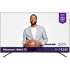 Powered by exclusive technologies to amplify color, contrast, brightness, and smooth motion, Hisense R8F Series ULED Smart TVs combine incredible, ultra-bright 4K detail with the intuitively smart Roku TV to take your TV experience from great to incr...