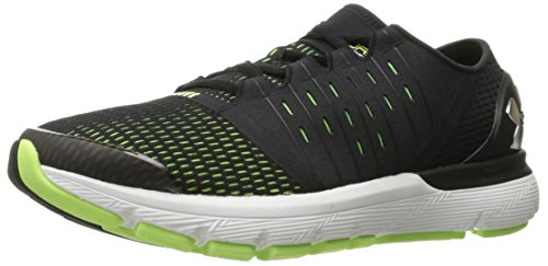 Under Armour Men's Speedform Europa Running Shoe, Black (003)/Quirky Lime, 11.5 2E US