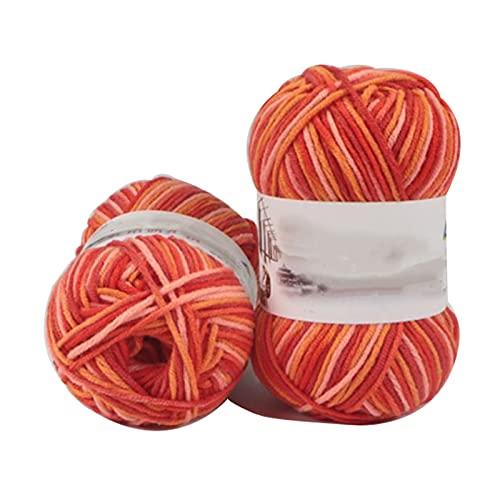 Hilado de hilo grueso Hilado de crochet 50g Hilo de algodón para tejer 4 8 10 o 20 rollos degradado de color de pila de algodón Hilo de tejer Hilo de tejer Hilo de tejido Hilo Hilo de ganchillo Hilo d