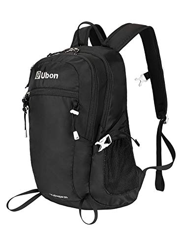Ubon Lightweight Hiking Backpack 20L Commute Travel Daypack Black