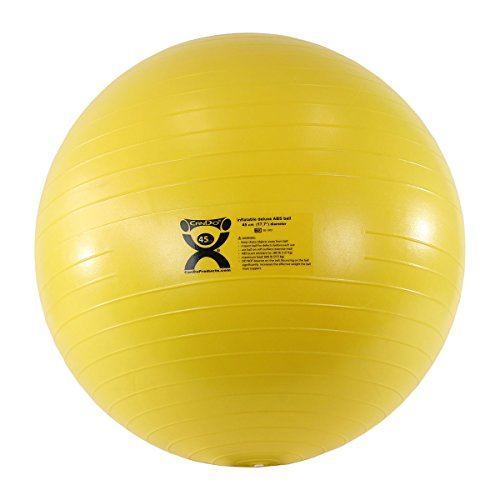 """Cando 45 cm (17.7"""") ABS Inflatable Ball, Yellow"""