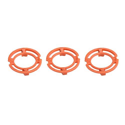 3PCS Razor Retaining Lock-Ring Orange Blade Retaining Rings for Philip s Norelco Series 7000 9000 RQ12 Models