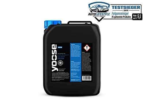 yoose Felgenreiniger 5,0 Liter Nachfüllkanister zur Felgenpflege pH-neutral säurefrei für Alufelgen und Stahlfelgen Felgenversiegelungen Felgengel für Auto Motorrad Fahrrad