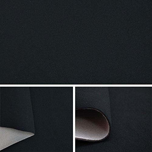 Himmelstoff Autostoff Polsterstoff Bezugsstoff kaschiert Farbe: Schwarz SAM189 T189 03