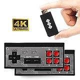 Consola de juegos retro, consola de videojuegos 4K HDMI 568 juegos clásicos incorporados, mini consola retro Controlador de gamepad portátil USB (sin incluir baterías)