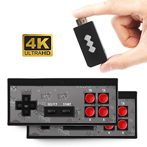Renoble Retro Spielekonsole, 4K HDMI Videospielkonsole Eingebaut in 568 Classic Games Mini Retro Konsole Wireless Controller HDMI Ausgang Dual Player Klassisches Familienspiel Konsolen brilliant