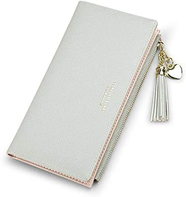 Wallets for Women Leather Cell Phone Case Holster Bag Long Slim Credit Card Holder Cute Minimalist product image