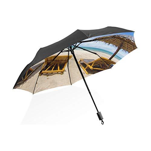Umbrella Inverted C Handle Lieblingsurlaub Strandzelt Tragbar Kompakt Klappschirm Regenschirm UV-Schutz Winddicht Outdoor Travel Frauen Regenschirm Klein