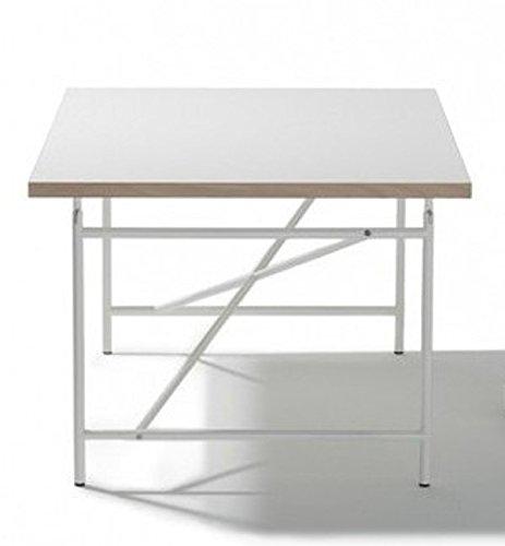 Ausstellungsstück Kinderschreibtisch Schreibtisch 120 x 70 cm Eiermann Tischplatte weiß Gestell weiß von Richard Lampert