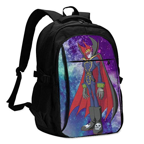 XCNGG Digimon Large-Capacity with USB Data Cable and Music Jack Business Backpacks for Women Men
