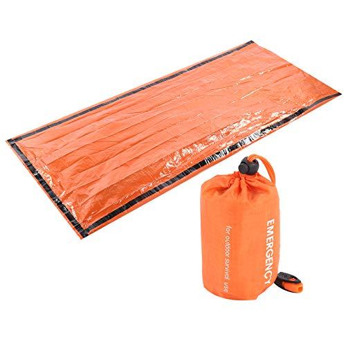 minifinker Saco de Dormir Multiusos Saco de Dormir para Exteriores, para Aislamiento térmico Frío, protección Solar, Reflejo, Vendaje para heridas