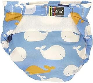 Kushies Infant Single Diaper, Blue Whales