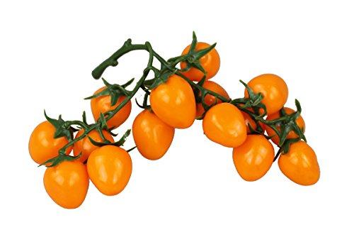 Deko Cherry Tomaten Bund Kunstobst Kunstgemüse künstliches Obst Gemüse Dekoration (Orange)