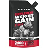 Bully Max Supplement for Weight Gain 2-in-1. All-Natural Weight Gainer for Puppies & Adult Dogs