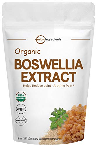 Organic Boswellia Serrata Extract Powder, 8 Ounce, Pure Boswellia Supplement, Powerfully Supports Joints, Knees and Bones Health, Non-GMO and Vegan Friendly
