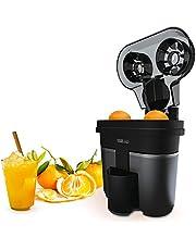 IKOHS Juicer Dual Elektrische citruspers, dubbel kegelsysteem, 90 W, vruchtvleesfilter, 500 ml, compact, zeer eenvoudig te reinigen, antislip voeten, 2 opzetstukken, kabelbescherming