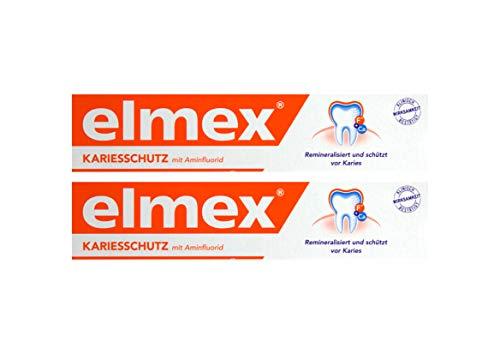 2x ELMEX KARIESSCHUTZ mit Aminfluorid Zahnpasta 75ml schützt vor Karies