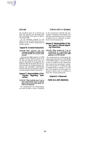 Code of Federal Regulations Office of National Drug Control Policy, Executive Office...