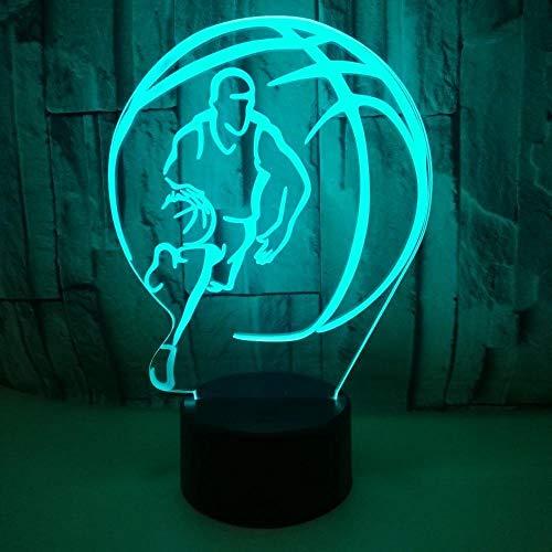 Basketball 3D Lampe Stereo Vision Touch Nachtlichtmuster Kundenspezifische Hersteller Direktvertrieb USB LED-Licht