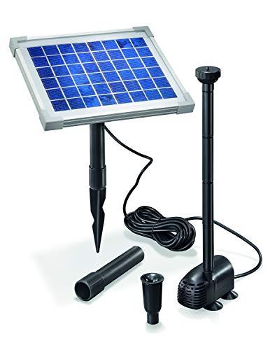 Esotec - Set completo pompa solare per laghetti 5 watt, modulo solare, portata 470 l/h, prevalenza 0,9 m