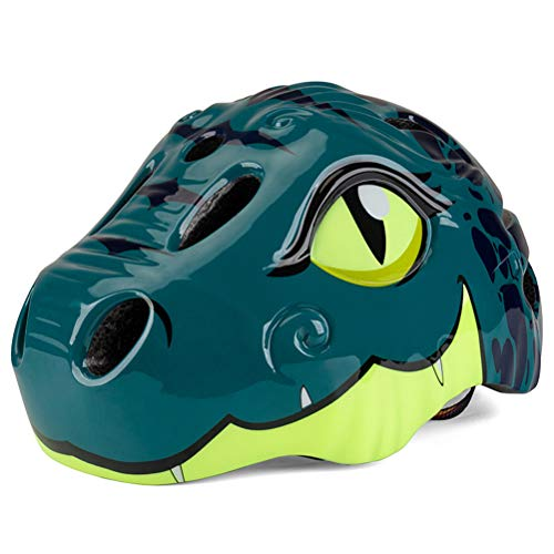 Casco para niños, casco de ciclismo de seguridad para dinosaurios de dibujos...
