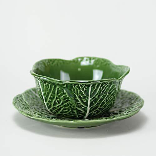 Repollo-Bowl + Assiette - Collection Repollo - Céramique artisanale - Fabriqué au Portugal - Vintage