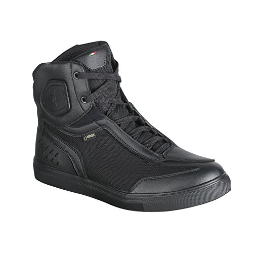 Dainese Street Darker Gore-Tex Shoes Zapatos Moto Impermeables, Negro, 43 EU