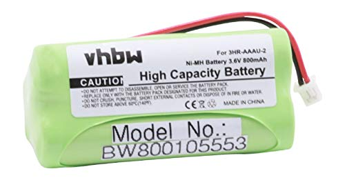 vhbw NI-MH Akku 800mAh (3.6V) für schnurlos Festnetz Handy Bang und Olufsen BeoCom 2 wie 3HR-AAAU-2.