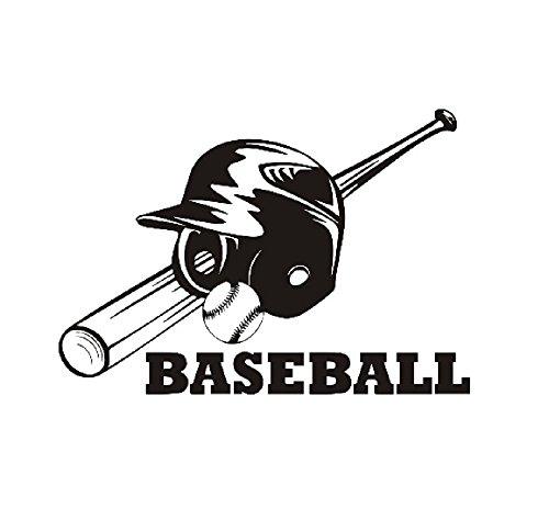 nozama ウォールステッカー 野球 ベースボール ヘルメット バット 野球少年へのプレゼントに