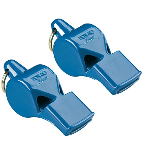 Fox 40 Pearl Whistle Referee Safety Alert, Dog, Rescue, Outdoor-Blue (2-Pack)