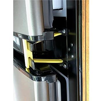 rv refrigerator door holder