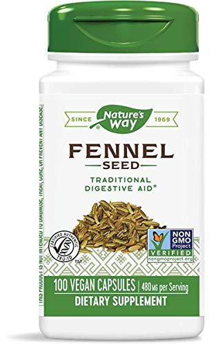 Nature's Way Fennel Seed 480 mg, 100 Vcaps, Pack of 2