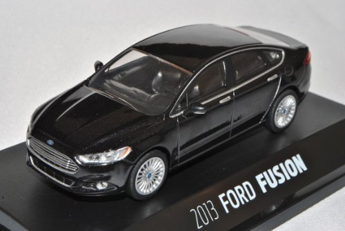 Greenlight Ford Mondeo Limousine Schwarz Fusion MK5 Ab 2013 1/43 Modell Auto mit individiuellem Wunschkennzeichen