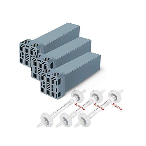 WCCCY Elemento de Filtro CPAP, Establecer para el Conjunto de Elementos de Filtro detergente de algodón y desinfección Accesorios