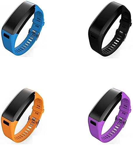 Correa de Reloj de Silicona Suave Compatible con Garmin Vivosmart HR, Repuesto Ideal (4-Pack I)