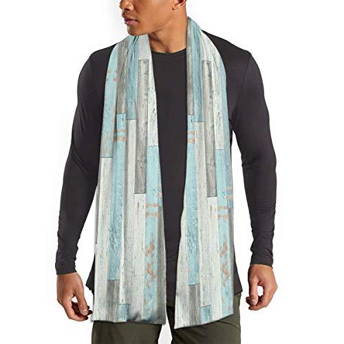 Blau-grauer rustikaler Holzschal weich leicht lange Schals Thermo antistatischer Schal Premium atmungsaktiv langer Schal tragbar bequem Winterschals für Herren Damen