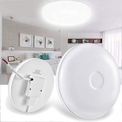 LED Deckenleuchte, 12W Deckenlampe UFO LED Deckenleuchte, 85-265V Warmweiß 3000K für Büro Flur Küche Schlafzimmer Modern Led Deckenleuchten Küche Wohnzimmer Lampe[Energieklasse A+] (12W Warmweiß)