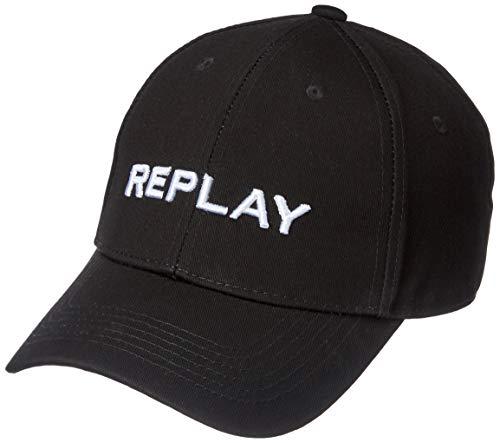 Replay Unisex AX4161.000.A0113 Baseball Cap, Schwarz (Black 098), One Size (Herstellergröße: UNIC)