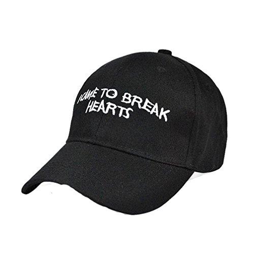 Amlaiworld Mode Stickerei Snapback Boy Hiphop Hat verstellbare Baseball Cap Unisex (Schwarze)