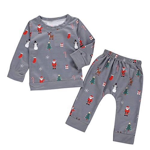 Cuteelf Kinder Langarm Polka Dot Print Weihnachten Top + Hosen Set Home Service Pyjamas Baby Baby Dot Shirt Hemd Hosen Pyjamas Weihnachten Kostüm