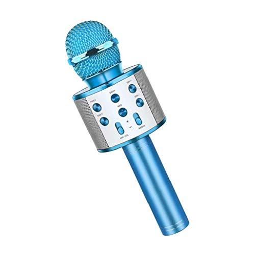 Odoukey Mic del Altavoz Bluetooth inalámbrico micrófono de Karaoke Juguete Azul portátil para niños Muchachos de Las Muchachas del Regalo de cumpleaños