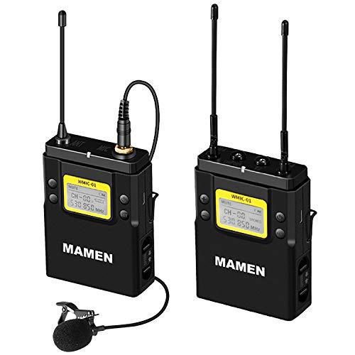 Indovis WMIC-01 K1 (1-1) - Micrófono de cavación inalámbrico profesional UHF para...