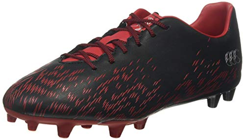 Canterbury of New Zealand Speed 2.0 Firm Ground, Zapatillas de Rugby Unisex Adulto, Negro (Black Adult Unisex), 44 EU