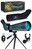 CREATIVE XP HD Spotting Scope with Tripod 20-60x80mm - BAK 4 Prism Spotting Scopes for Target...