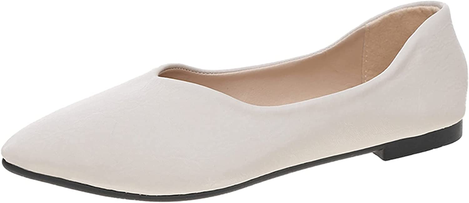 FAMOORE Casual Shoes for Women Slip On Flats Grey Casual Shoes Casual Boat Shoes Casual Dress Shoes